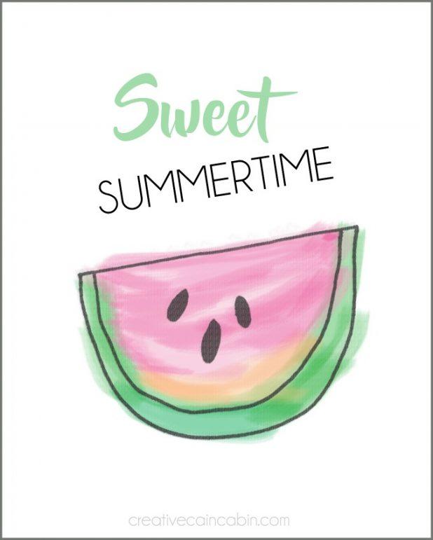 Sweet Summertime Free Printable Download