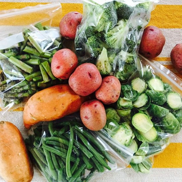Vegetable Prep For Meal Planning