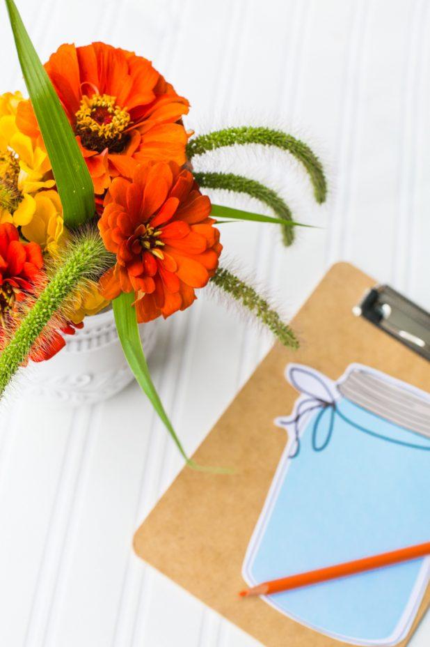 Farmhouse Mason Jar List Keeping Notepad Printable With Free Download