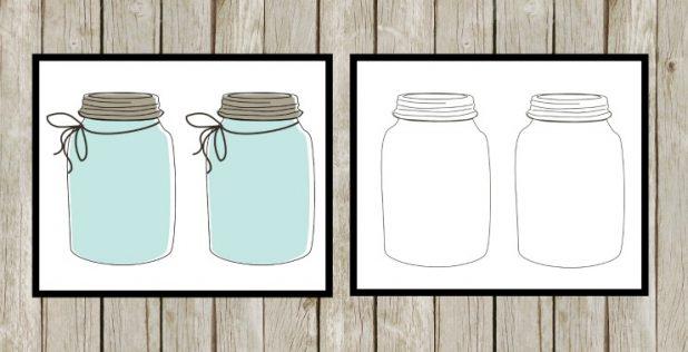 Farmhouse Mason Jar Grocery List Printable, and a DIY Clipboard To Keep You Organzied