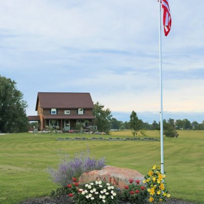 How To Add An In Ground Flagpole & Landscape Around It