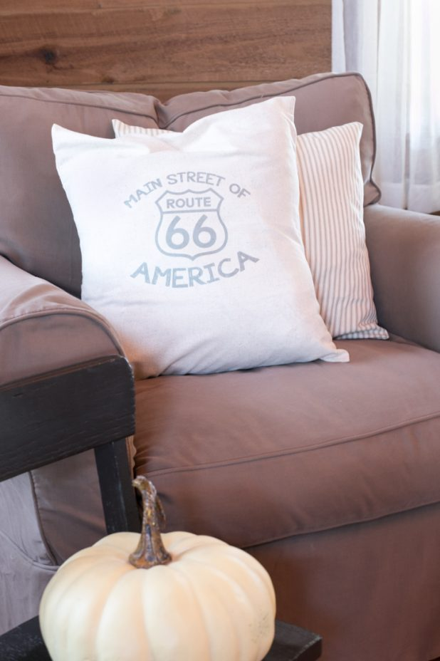 Route 66 Farmhouse Pillow Transfer
