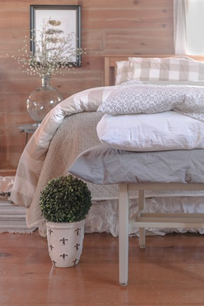 Ticking Stripe Bedding, Farmhouse Bedding, IKEA Bedding, Popular Pin
