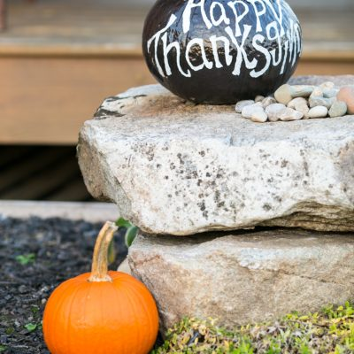 Thanksgiving Chalkboard Pumpkin