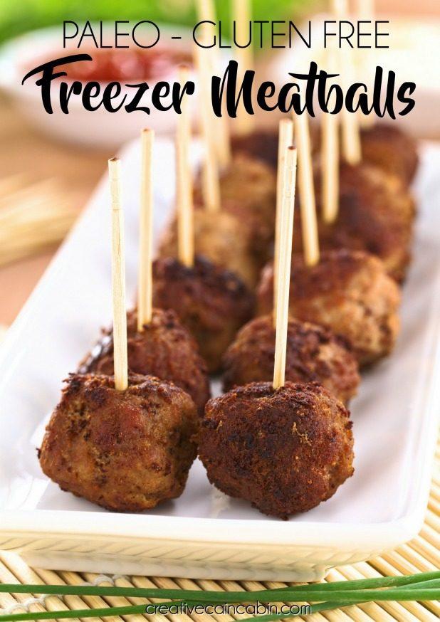 Healthy, Paleo, Gluten-Free Freezer Meatballs