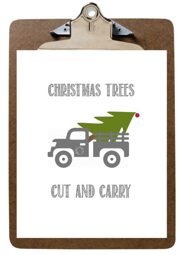 Christmas Tree Cut and Carry Printable in White