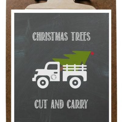 Christmas Tree Farm Truck Printable