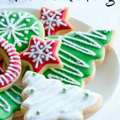 Rollout Christmas Cookie Dough & Icing Recipe