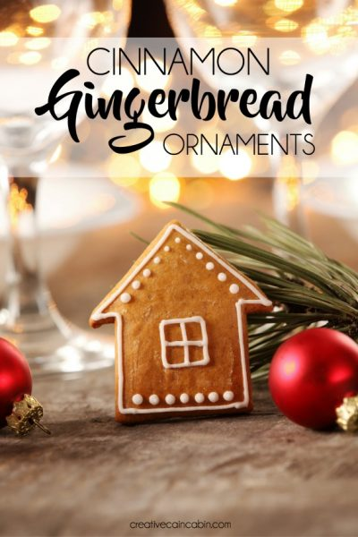 Cinnamon Gingerbread Ornament Recipe, 3 Ingredients, No Bake
