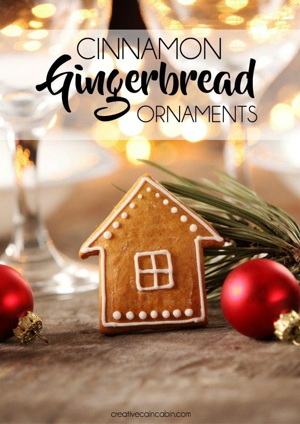 Cinnamon Gingerbread Ornament Recipe, 3 Ingredients, No Bake