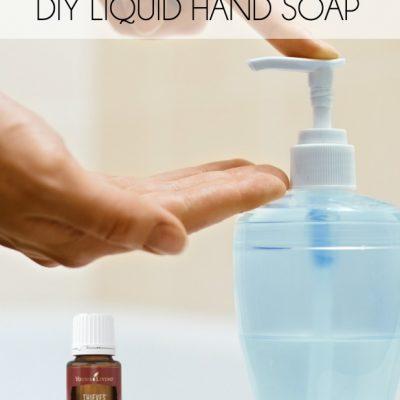 DIY Thieves Essential Oil Liquid Hand Soap