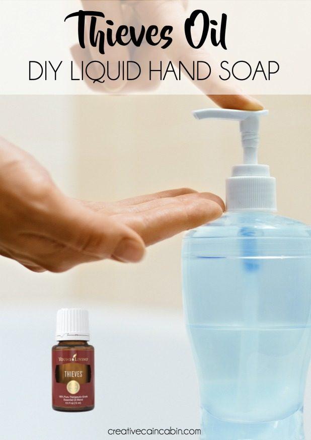 DIY Thieve sOil Liquid Hand Soap
