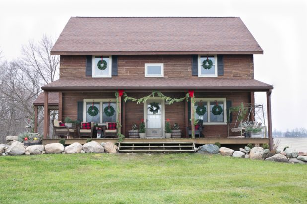 Christmas Porch Tour Of A Rustic Log Home
