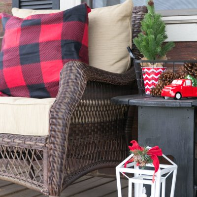 Rustic Christmas Porch