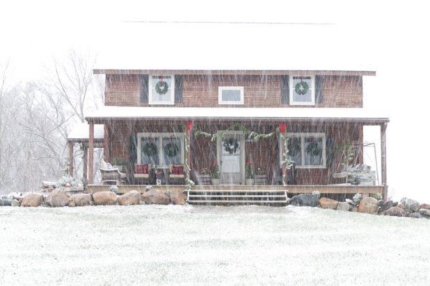 Christmas Porch Tour Of A Rustic Log Home