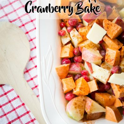 Sweet Potato Apple Cranberry Bake