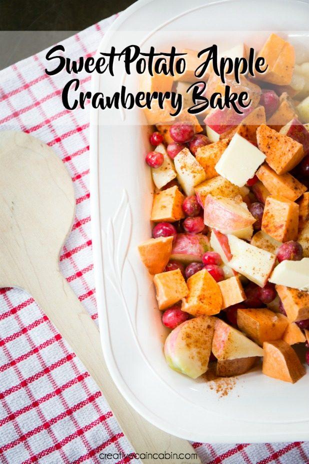Sweet Potato Apple Cranberry Bake