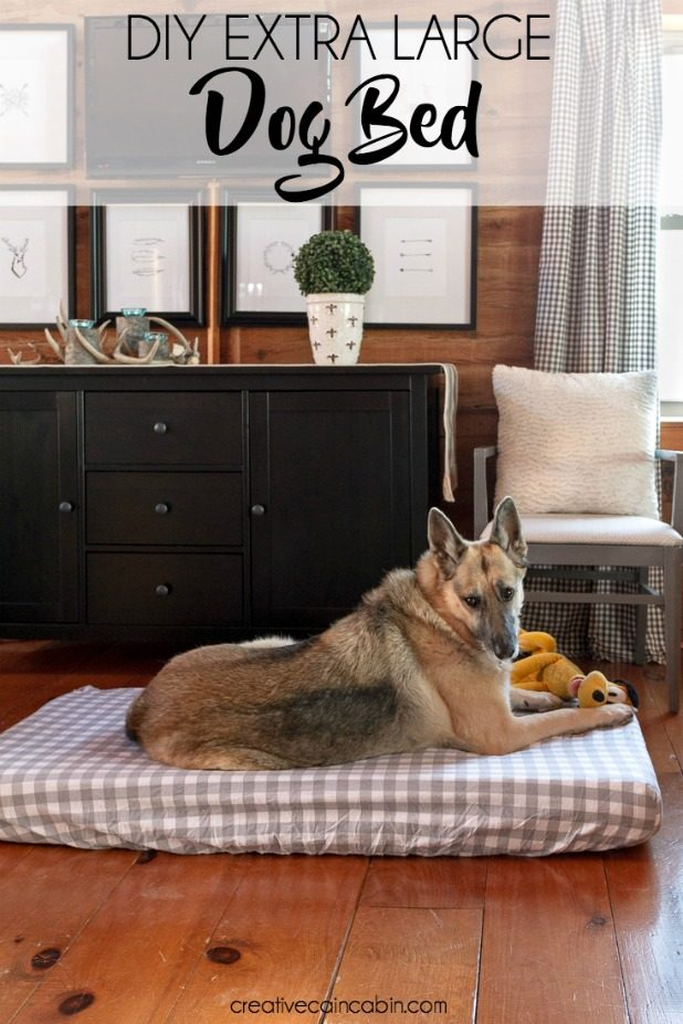 DIY Extra Large Dog Bed, No Tools Required, No Sewing Required, All You'll Need is a Crib Matress and Crib Sheet