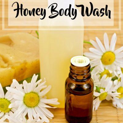 DIY Natural Essential Oil & Honey Body Wash
