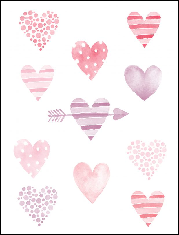 Valentine Heart Watercolor Printable