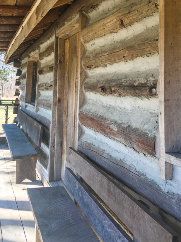 Log Cabin Built From Telephone Poles