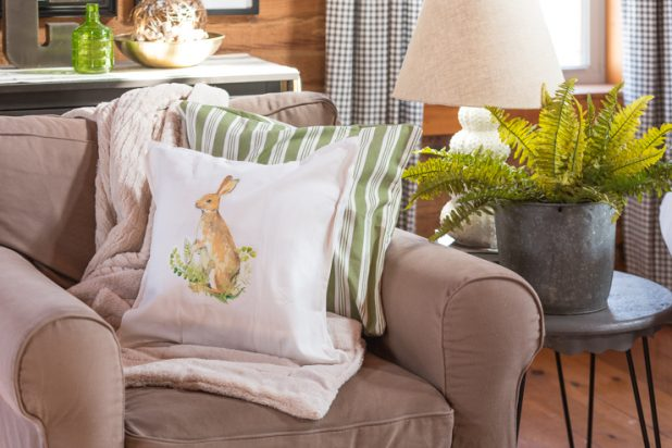 No Sew Pottery Barn Knockoff Spring Bunny Pillow