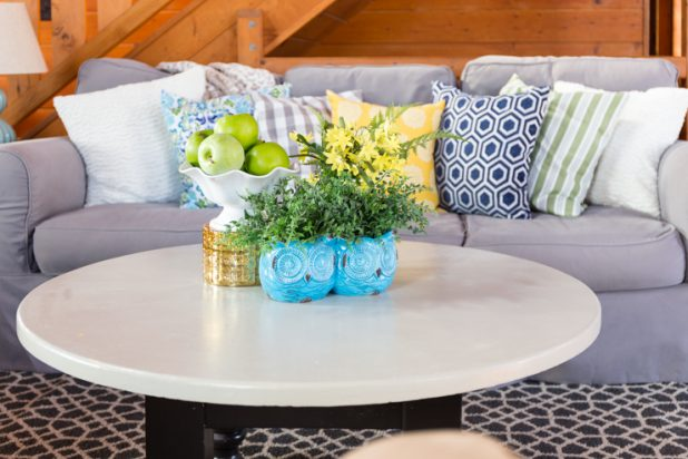 Spring Tour Using Yellow, Green, Blue and Gray Decor
