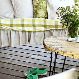Green Plaid Summer Porch