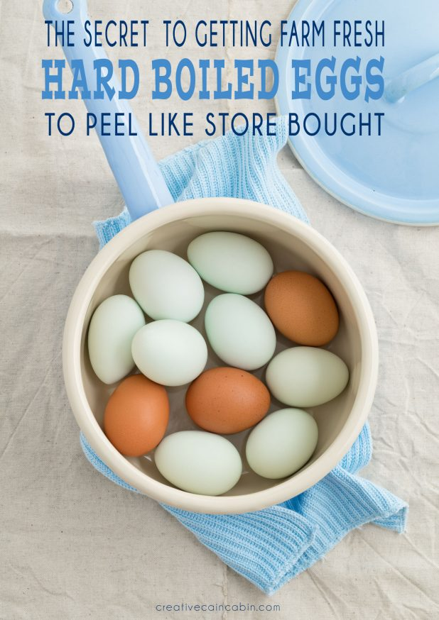 The Secret To Getting Farm Fresh Hard Boiled Eggs To Peel Like a Charm. The Secret The Old Timers Never Thought To Mention.