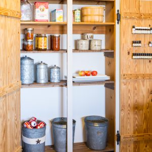 How to Turn A Coat Closet Into a Pantry