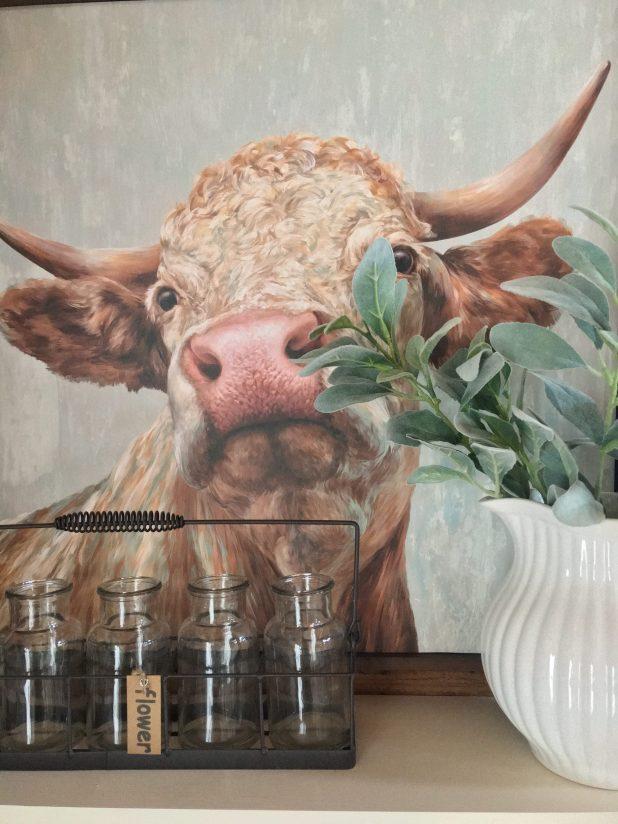 Farmhouse Decor Cow Print