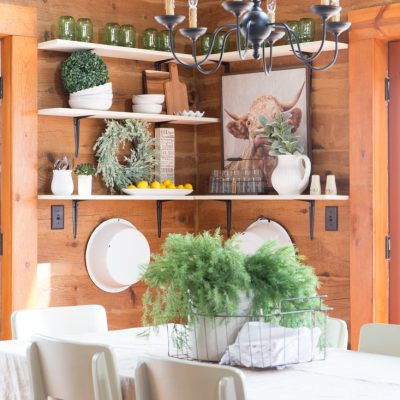 Open Farmhouse Shelves