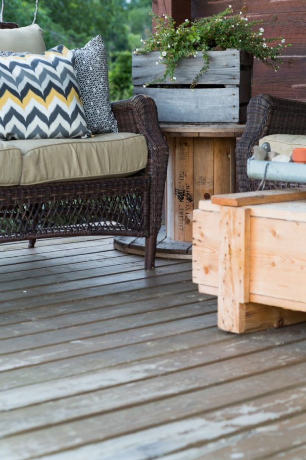 Summer Porch with Rustic Details