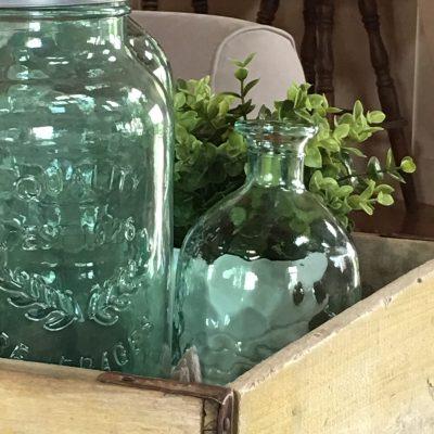 Sea Glass Inspired Farmhouse Decor