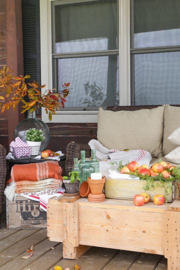 Rustic Fall Porch decor
