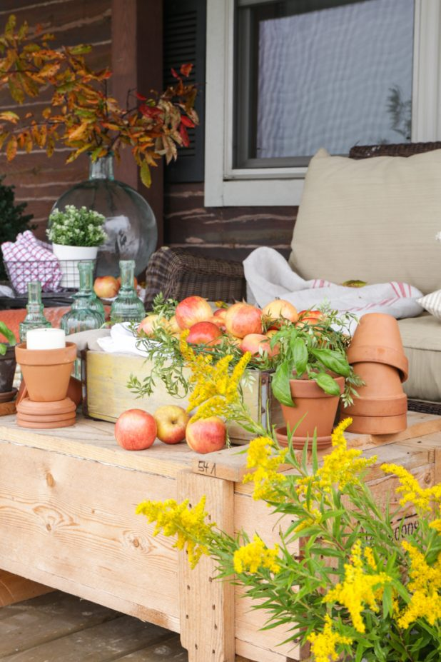 Rustic Fall Porch Decor