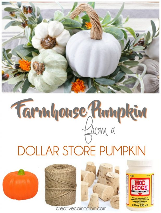 Easy DIY Pumpkin Makeover. Create a Chalk Paint Farmhouse Pumpkin From a Dollar Store Pumpkin