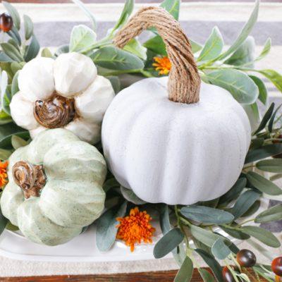 DIY Farmhouse Pumpkin With Realistic Stem