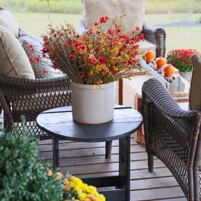 Rustic Natural Decor Fall Porch