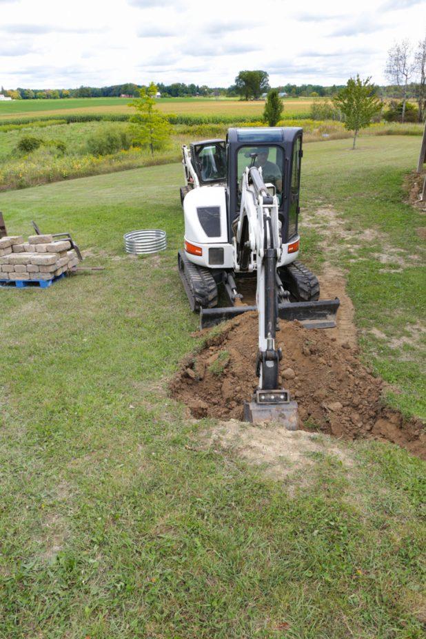 Walkout Basement Retainer Wall Digging