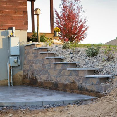 Retainer Wall Build, and Planting a Dry Creek Bed