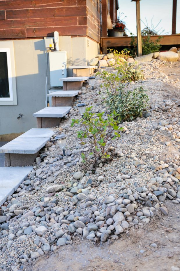 Dry River Bed Planting On Top Side Of Walkout Basement Retainer Wall
