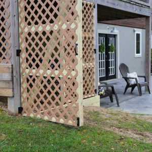 DIY Enclosing the Underside of a Second Story Deck With Lattice To Create Garden Shed Storage