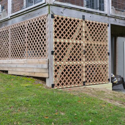 Under Deck Garden Supply Storage