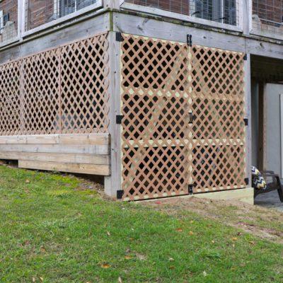 Under Deck Garden Supply Storage