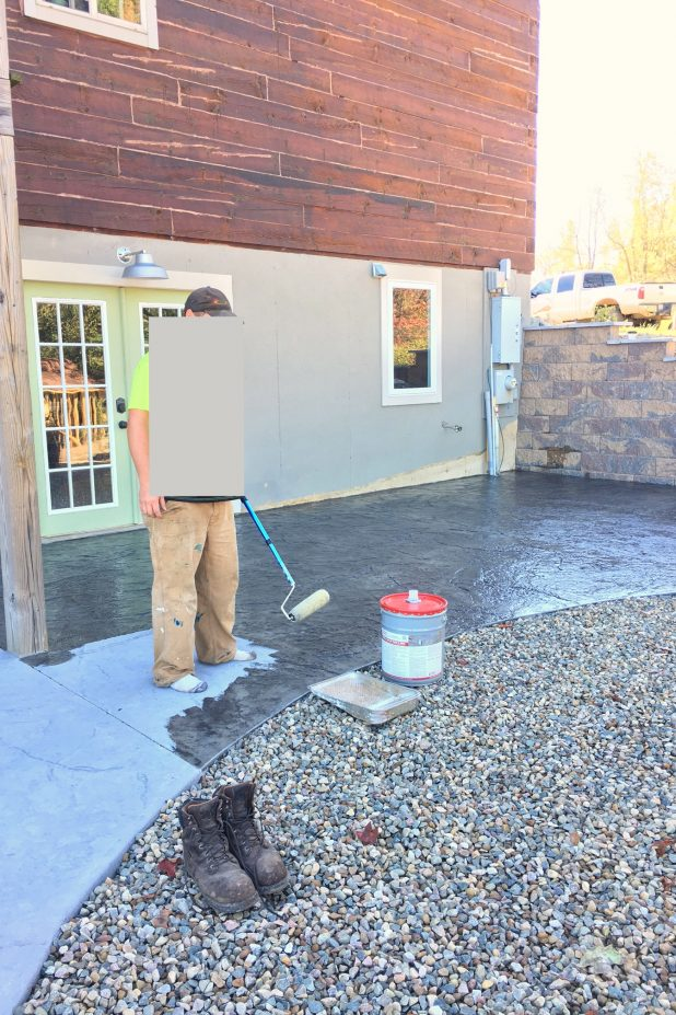 Sealing Stamped Concrete Patio