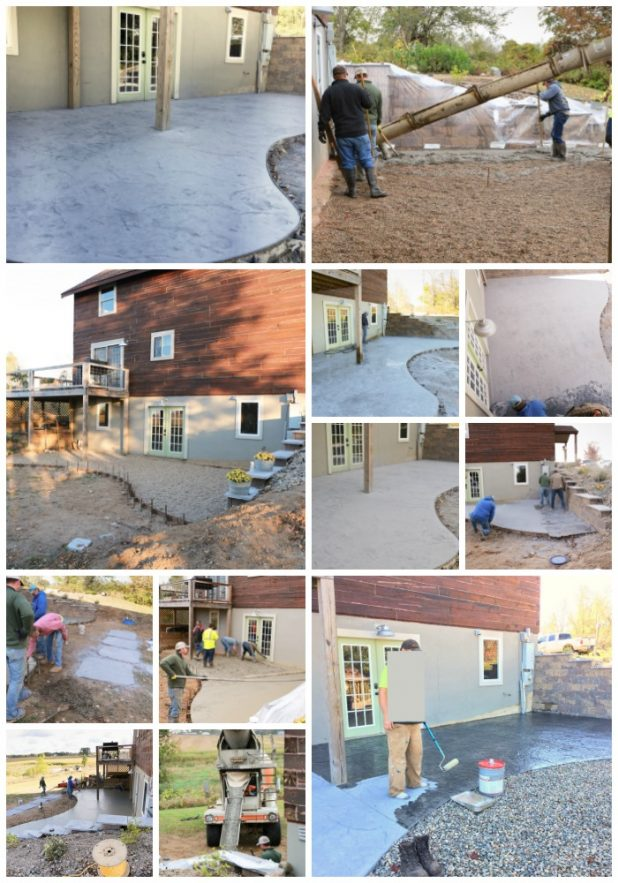 DIY Stamped Concrete Patio Step By Step Slide Show