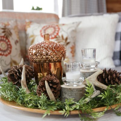 Rustic Fall Coffee Table Centerpiece