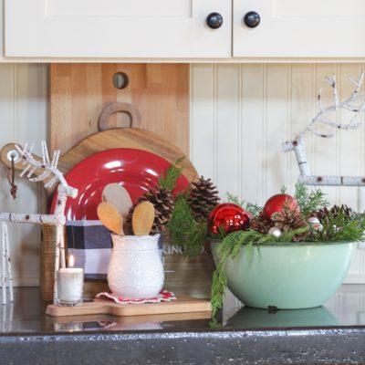 Vintage Enamelware Christmas Bowl