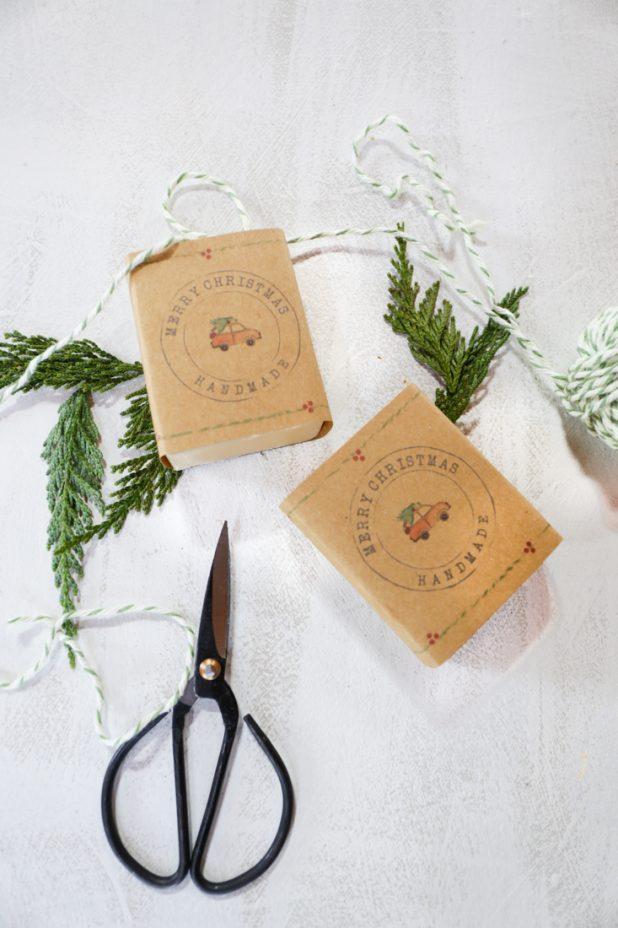 Christmas Handmade Soap Wrappers